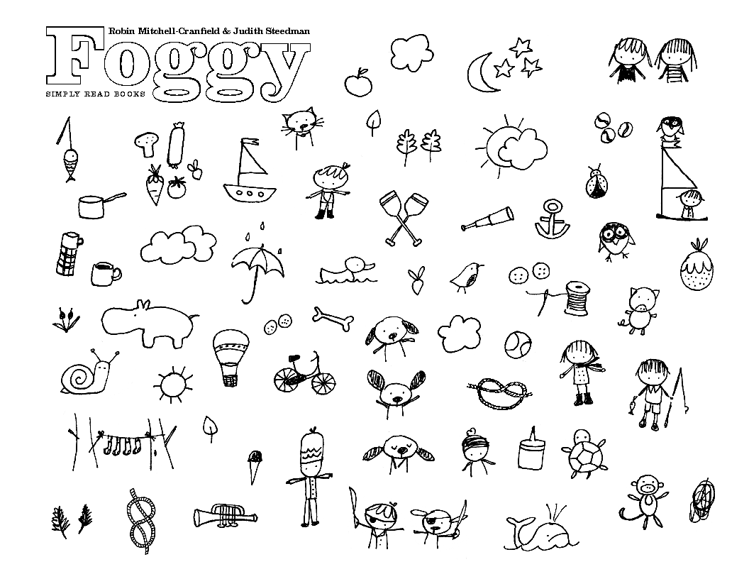 Activity Foggy Coloring Page